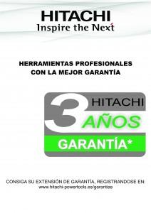 Ampliación Garantía HITACHI a 3 años